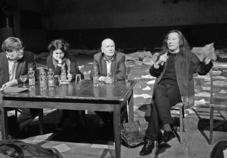 Poetica 2015, Köln: v.l. John Burnside, Yeşim Ağaoğlu, Adam Zagajewski, Yang Lian, Foto:© Deutsche Akademie