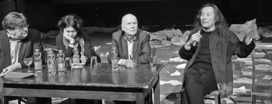Poetica 2015, Köln: v.l. John Burnside, Yeşim Ağaoğlu, Adam Zagajewski, Yang Lian