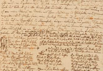 Briefentwurf Joseph von Eichendorffs an Achim von Arnim (Jahreswende 1810/1811), © Foto: Freies Deutsches Hochstift