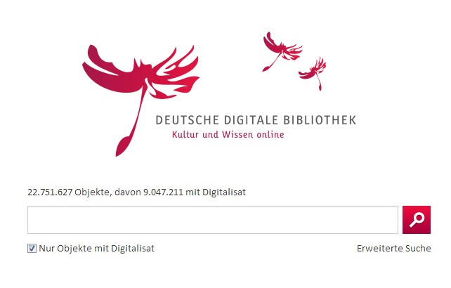 Deutsche Digitale Bibliothek - Screenshot der Website