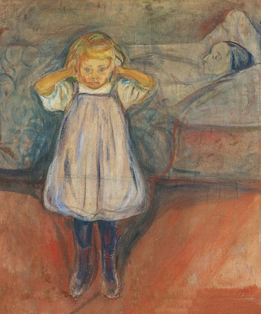 Edvard Munch, Das Kind und der Tod, 1899,  Öl auf Leinwand, Kunsthalle Bremen – Der Kunstverein in Bremen © The Munch Museum / The Munch Ellingsen Group