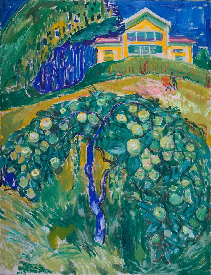 Edvard Munch, Apfelbaum im Garten, 1932-42, © The Munch-Museum Oslo/The Munch-Ellingsen-Group
