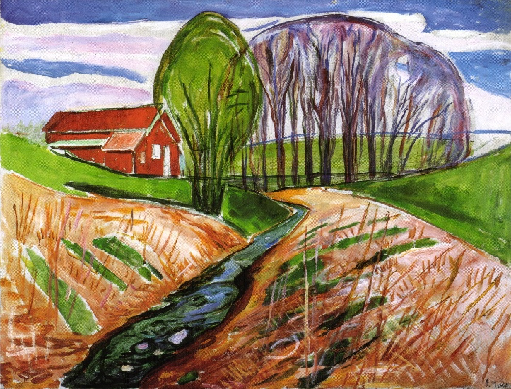 Edvard Munch, Frühlingslandschaft beim Gemeindehaus, 1933-35, © The Munch-Museum Oslo/The Munch-Ellingsen-Group