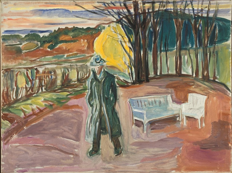 Edvard Munch, Selbstporträt bei der GartenlaubeAsche, 1942, © The Munch-Museum Oslo/The Munch-Ellingsen-Group