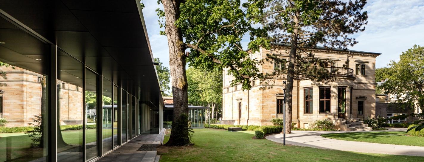 Richard Wagner Museum, Neubau und Haus Wahnfried (Gartenseite)