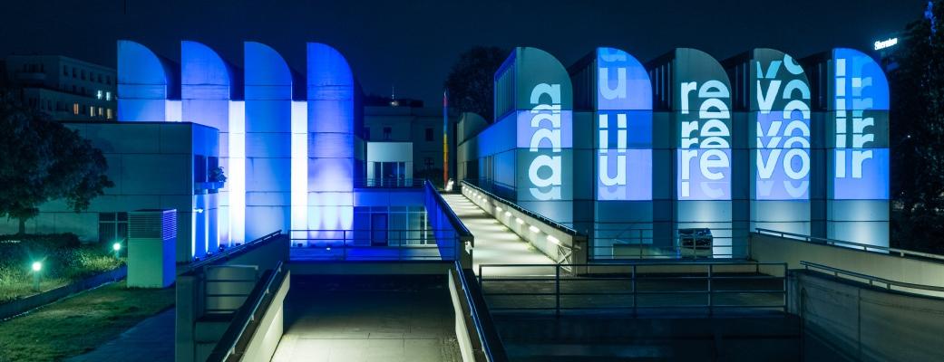 Bauhaus-Archiv e.V., Berlin - Lichtinstallation 'Au Revoir', Foto: Hans Glave, Berlin