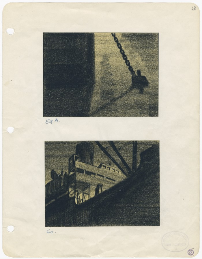 Man Hunt. Fritz Lang (USA 1941), Storyboard: Wiard Ihnen, Collection Cinémathèque française, Fonds Fritz Lang, Paris
