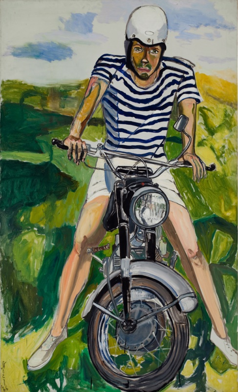 Alice Neel, Hartley on the Motorcycle, 1966, Öl auf Leinwand © The Estate of Alice Neel