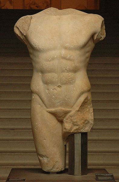 Torso Miletus, Louvre, Department of Greek, Etruscan and Roman Antiquities, Denon wing (Ma 2792), Foto: Jastrow (2006), Quelle: wikimedia.org