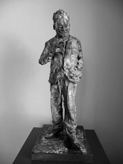 Rainer Fetting: Willy Brandt, klein, 1996, Bronze, bemalt, Höhe 78 cm, © Foto: Archiv Rainer Fetting